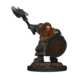 DND ICONS O/T REALMS DWARF FIGHTER MALE PREM FIG