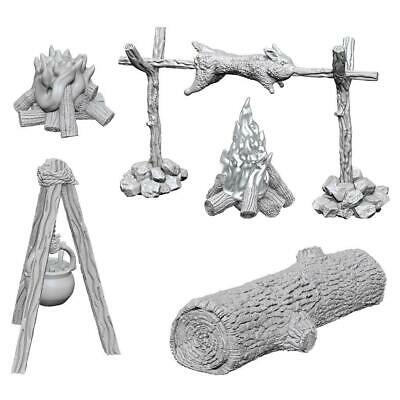 WIZKIDS UNPAINTED MINIS WV10 CAMP FIRE/SITTING LOG