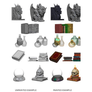 WIZKIDS UNPAINTED MINIS WV5 WIZARDS ROOM