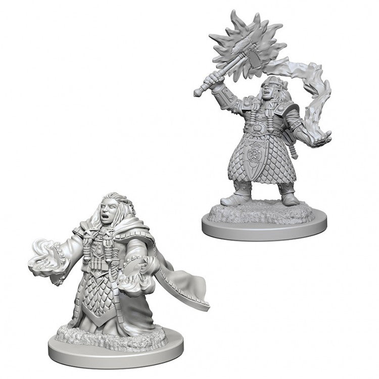 DND UNPAINTED MINIS WV4 DWARF FEMALE CLERIC