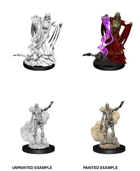 DND UNPAINTED MINIS WV11 LICH AND MUMMY LORD
