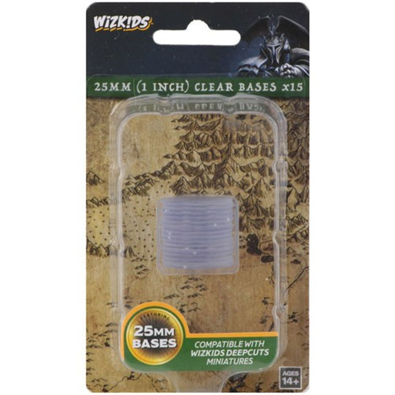 WIZKIDS DEEP CUTS CLEAR 25MM ROUND BASE 15CT