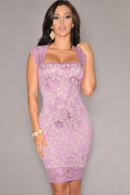 Sexy Lavender Lace Dress
