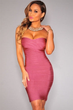 Beautiful Pink Bodycon Bandage Dress
