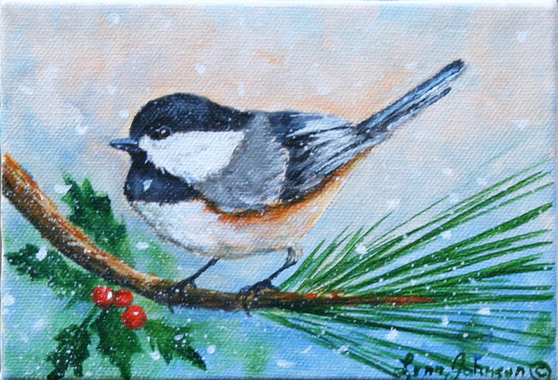 Snow Bird #6 Chickadee