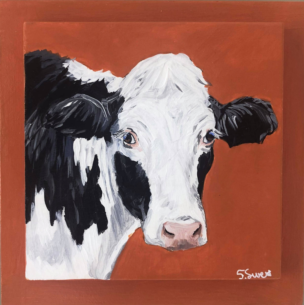 Holstein on orange