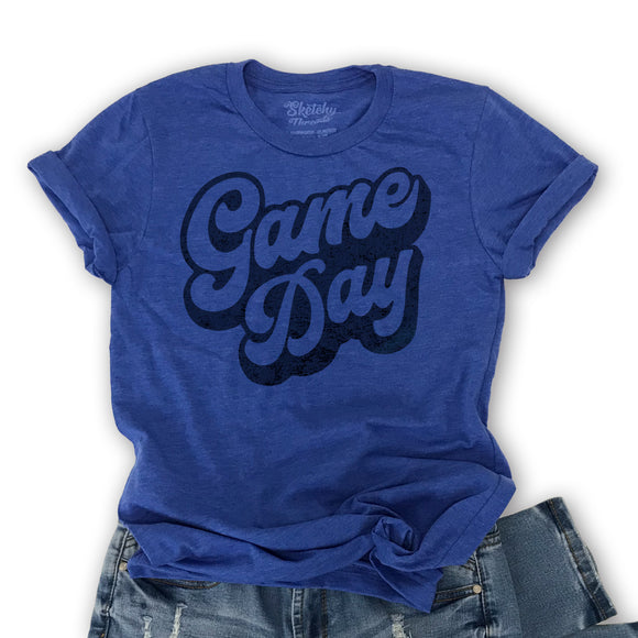 Game Day -Graphic T-Shirt, Blue Unisex tee