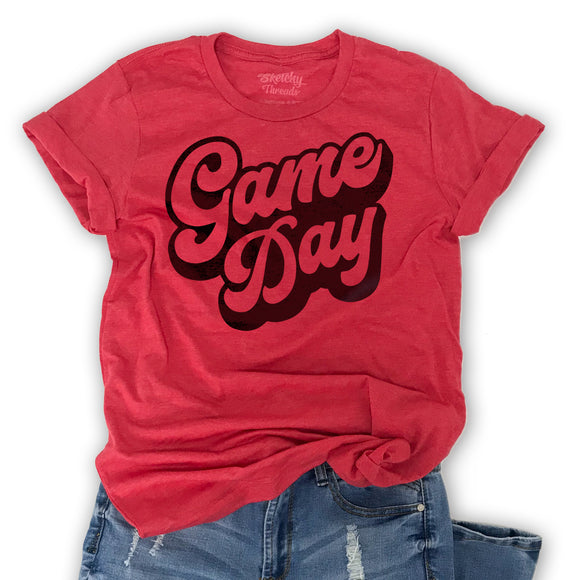 Game Day -Graphic T-Shirt, Red Unisex tee