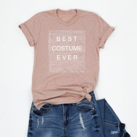 BEST COSTUME EVER -Peach -Letter Board Graphic Tee