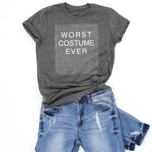 WORST COSTUME EVER -Letter Board Graphic Tee