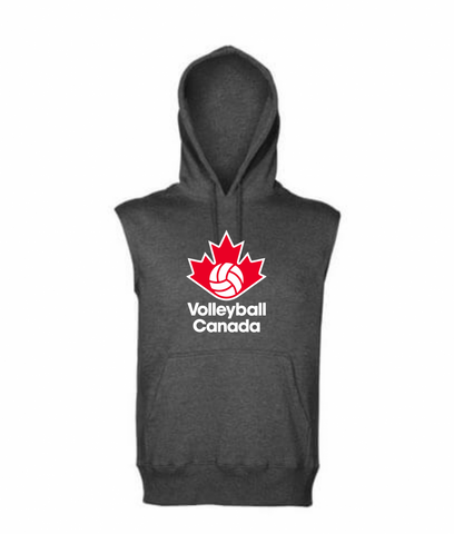 Sleeveless Hoodie (Large logo)|Pull à capuchon sans manches (Grand logo)