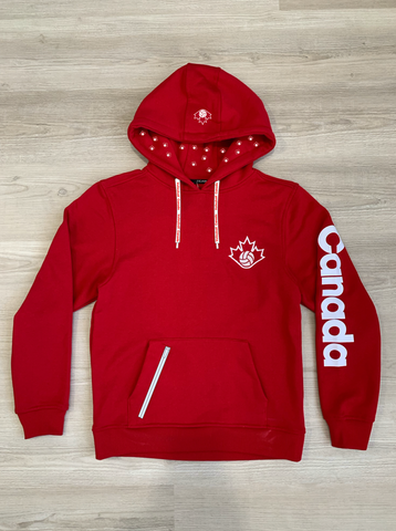 Volleyball Canada Red Hoodie|Pull à capuchon rouge Volleyball Canada