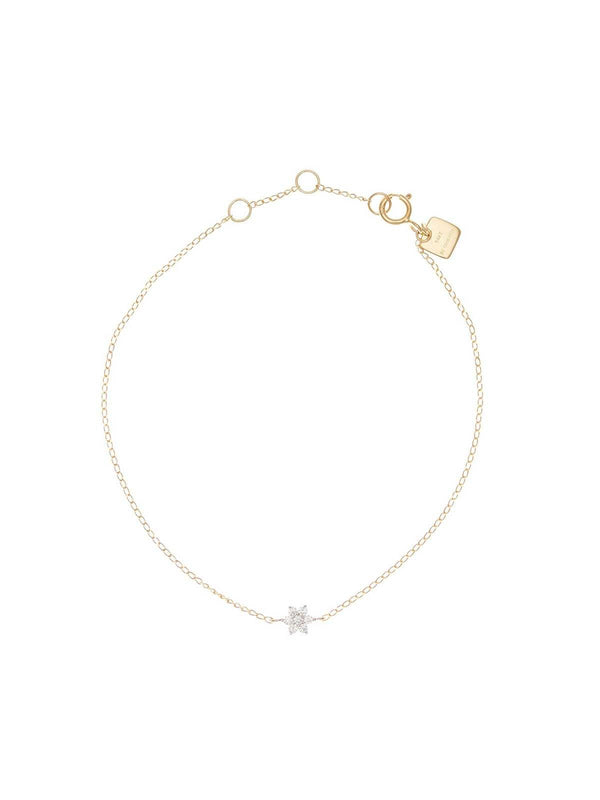 By Charlotte I 14k Gold Crystal Lotus Flower Bracelet I Perlu