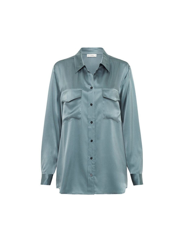 Boyfriend Shirt - Shark Grey Shirts Silk Laundry