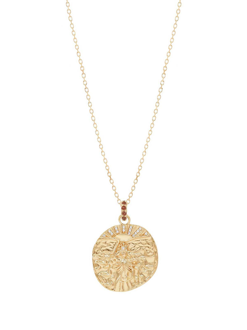 By Charlotte I Goddess of Fire Necklace Gold I Perlu
