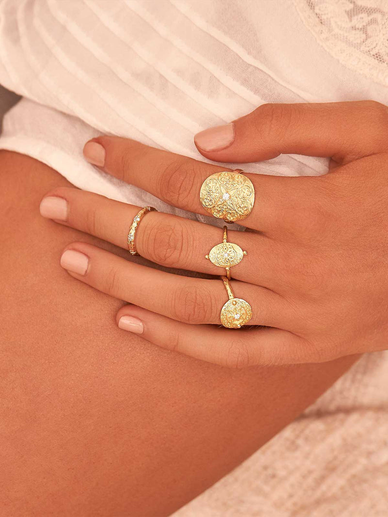 By Charlotte I Path of Life Ring Silver I Perlu