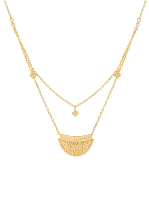 By Charlotte I Radiant Lotus Necklace I Perlu