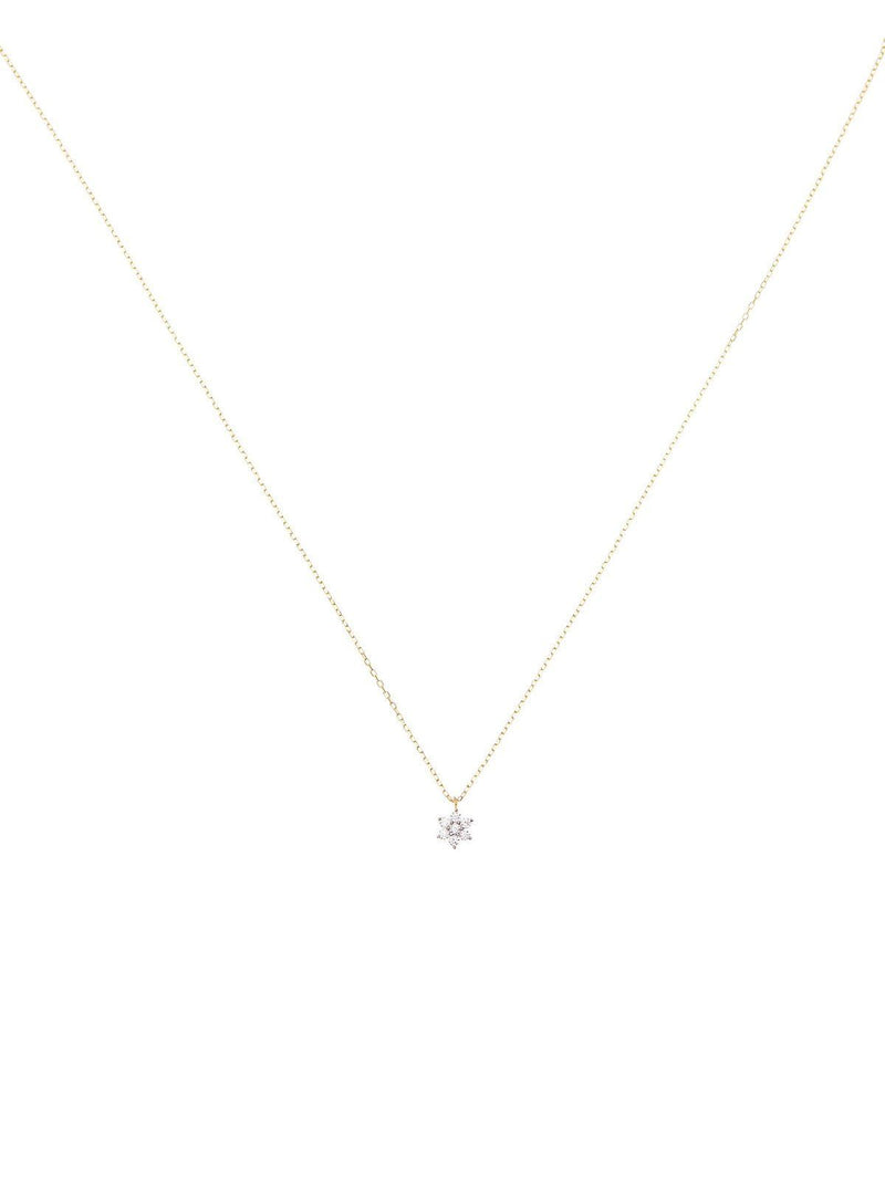 14kt Gold Crystal Lotus Flower Necklace