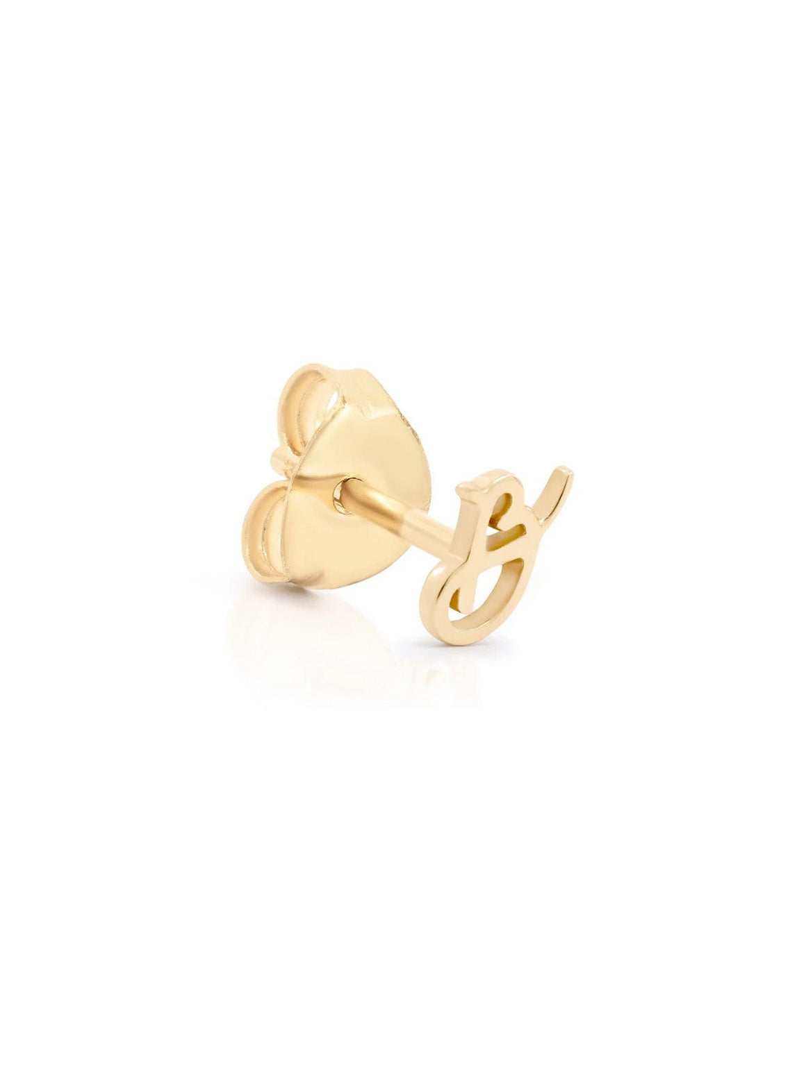14kt Gold Love Letter Single Earring