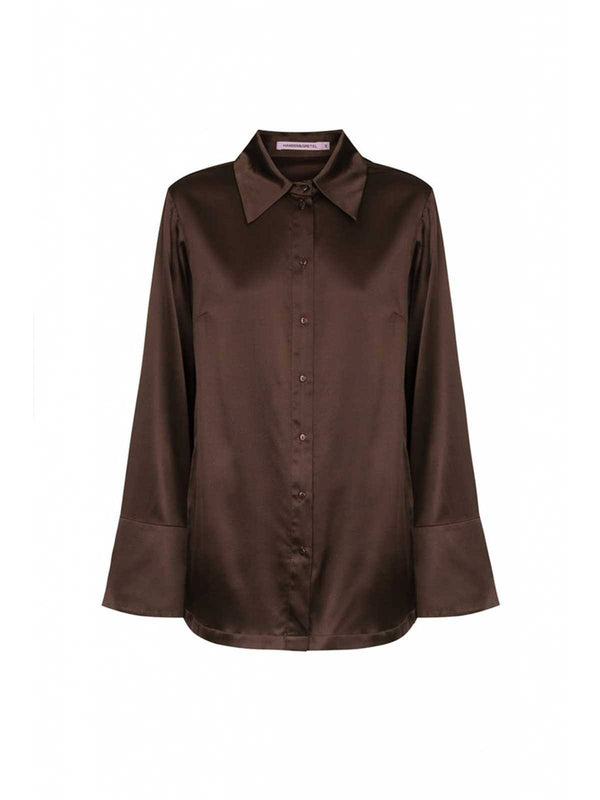 Jules Shirt - Chocolate Tops Hansen and Gretel