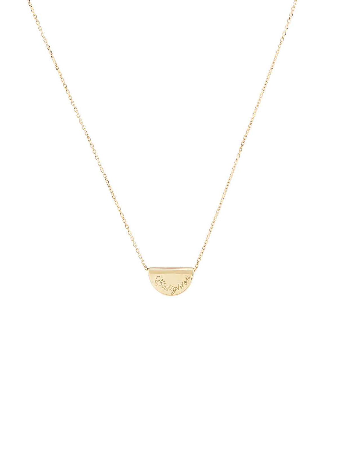 By Charlotte I 14k Gold Mini Lotus Necklace Solid Gold I Perlu