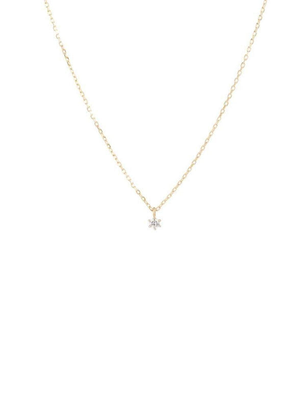 By Charlotte 14k White Gold Sweet Drop Diamond Necklace