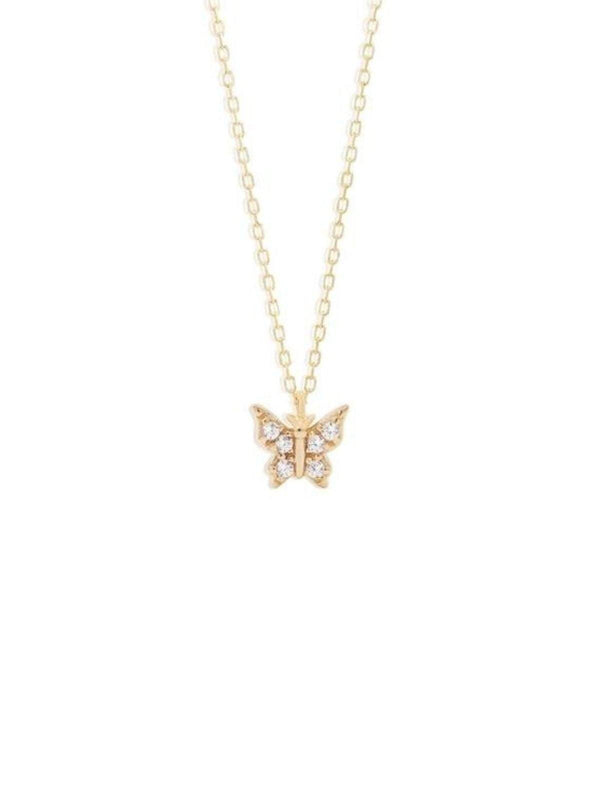 By Charlotte 14k Gold Fly With Me Necklace