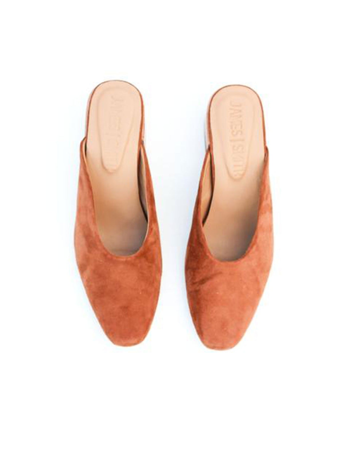 James Smith Cafe Society Tan Burnt Orange Mule Shoes | Perlu