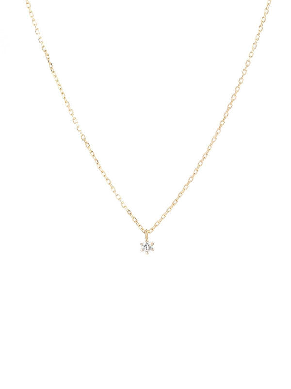 By Charlotte I 14k Gold Sweet Drop Diamond Necklace I Perlu