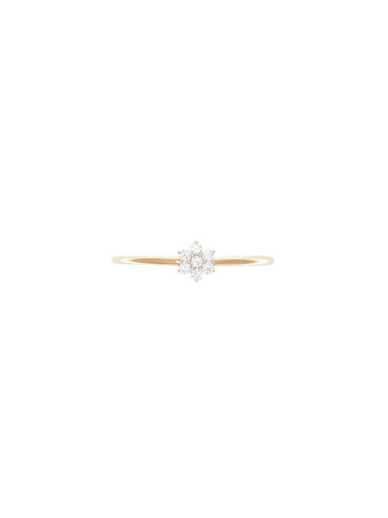By Charlotte I 14k Gold Crystal Lotus Ring I Perlu