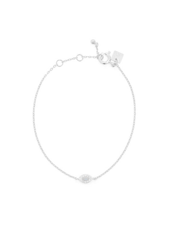By Charlotte I Silver Eye Of Protection Bracelet I Perlu