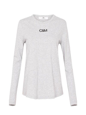 C&M Camilla and Marc Ligero Long Sleeve Tee | Grey or White | Perlu