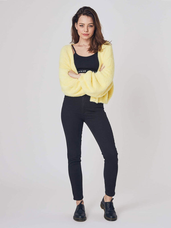 A High Skinny Ankle Basher - Black Magic Jeans Abrand