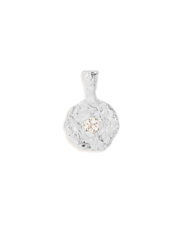By Charlotte April Topaz Birthstone Pendant Silver | Perlu