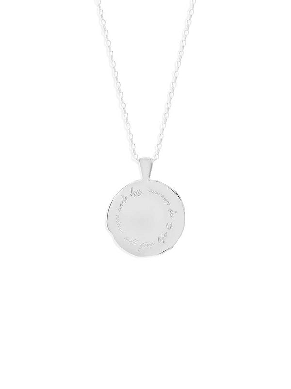 By Charlotte Aquarius Zodiac Necklace Silver | Perlu