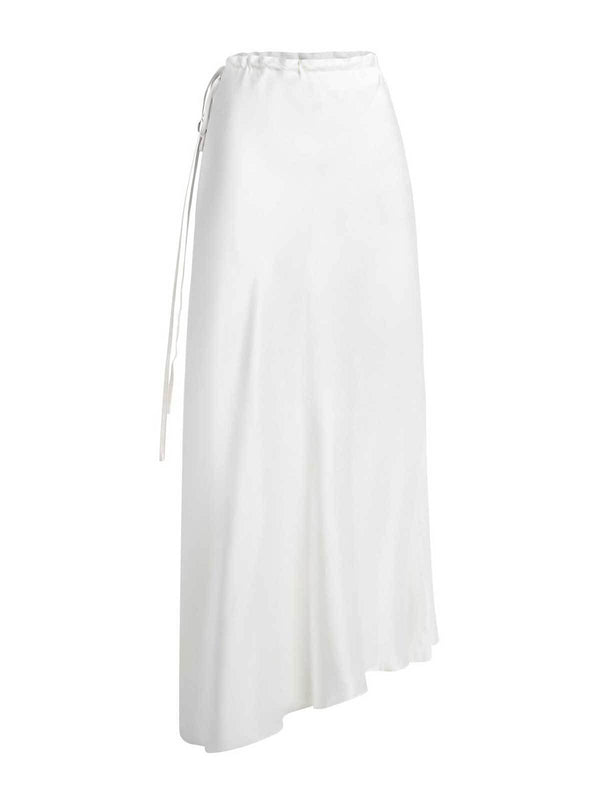 Silk Laundry Asymmetrical Skirt White | Perlu