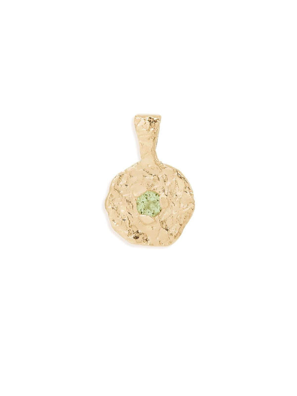 By Charlotte Peridot August Birthstone Pendant Gold | Perlu
