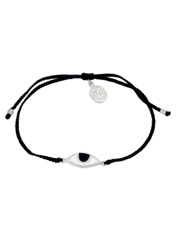 Woven Third Eye Bracelet | Silver - Black