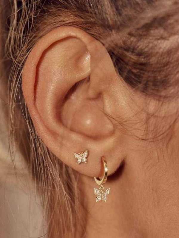 14k Gold Fly With Me Earring - Single (Pair $278) Earrings By Charlotte