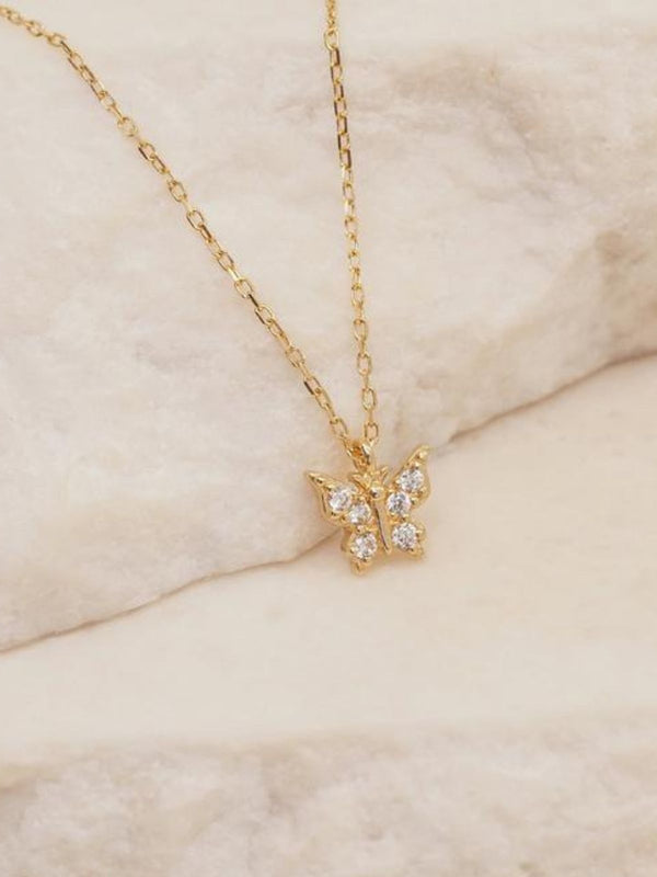 14k Gold Fly With Me Necklace Necklaces By Charlotte