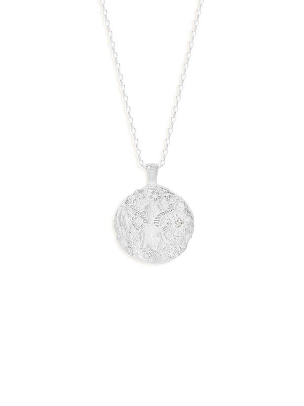 By Charlotte Capricorn Zodiac Necklace Silver | Perlu