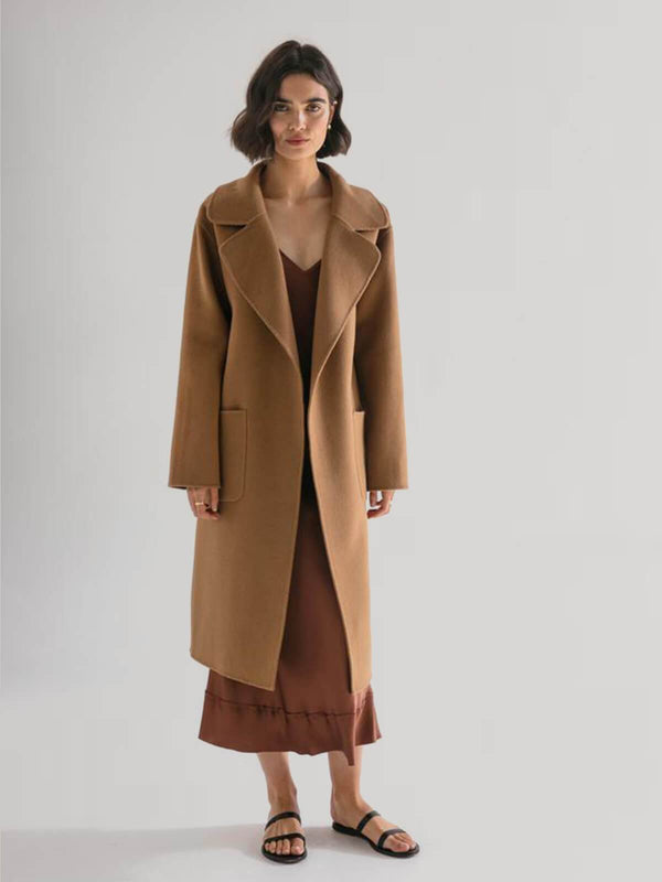 Friends With Frank | The Matilda Coat - Camel | Perlu