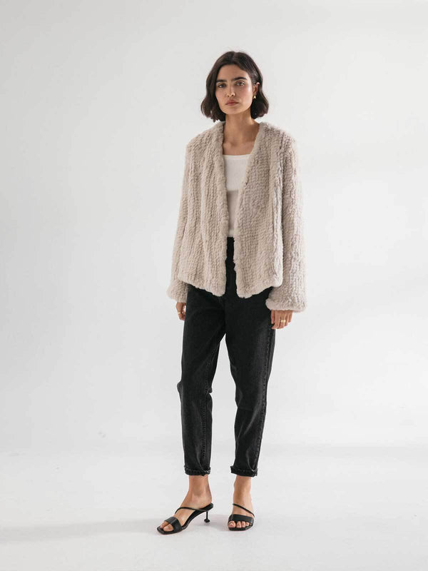 Friends with Frank The Frank Jacket Beige White | Perlu