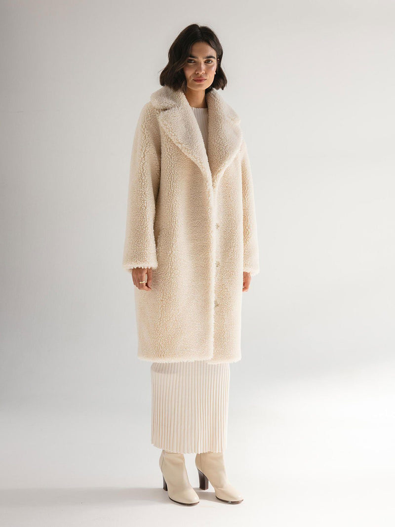 Friends With Frank | The Harriet Coat - Winter White | Perlu