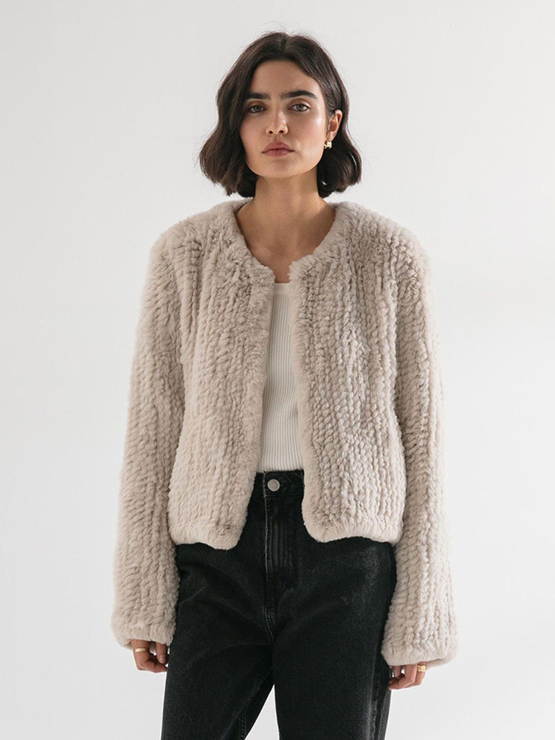 Friends With Frank |The Milly Jacket - Beige White | Perlu