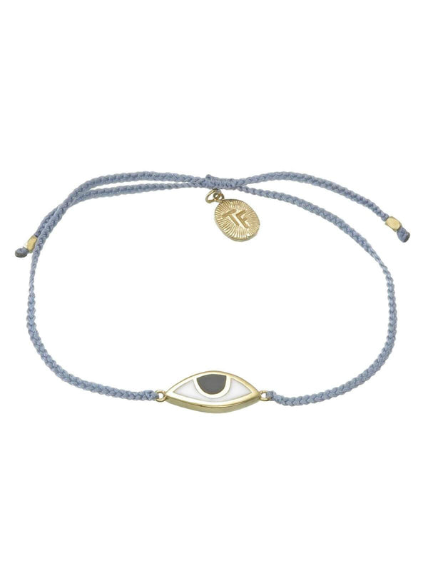 Woven Third Eye Bracelet | Gold - Grey