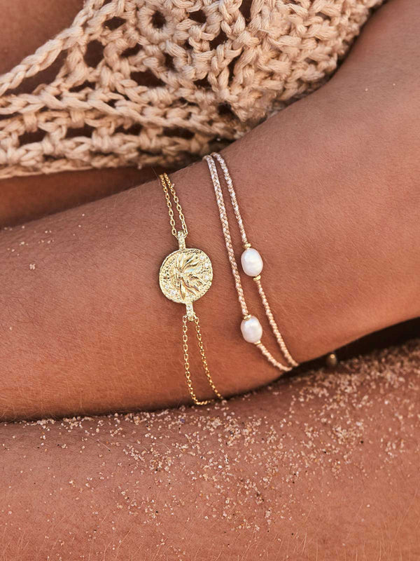 By Charlotte I Gold Goddess Of Earth Bracelet I Perlu