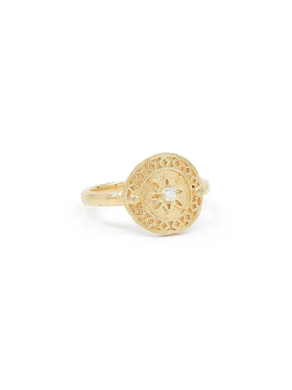 By Charlotte I Gold Be Present Ring I Perlu