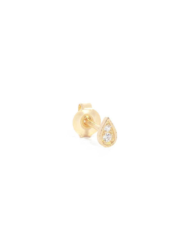 By Charlotte I Illuminate Stud Earrings Gold I Perlu