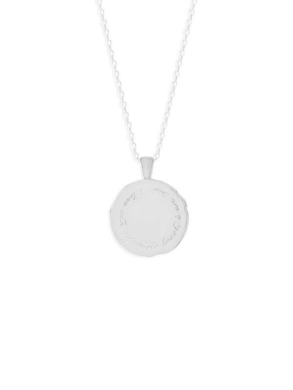 By Charlotte Libra Zodiac Necklace Silver | Perlu